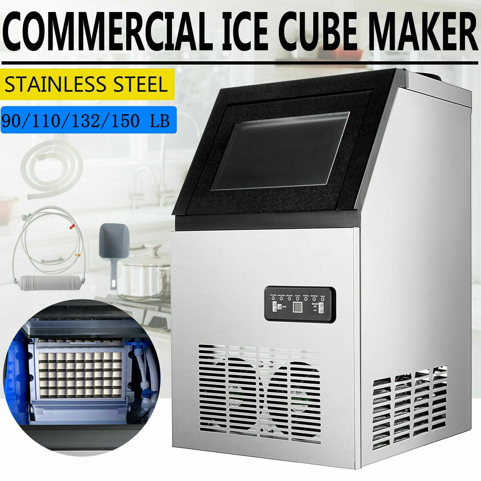 Built In Ice Maker Bar Restaurant Undercounter Freestand Ice Cube Machine 110v Walmart Com Walmart Com