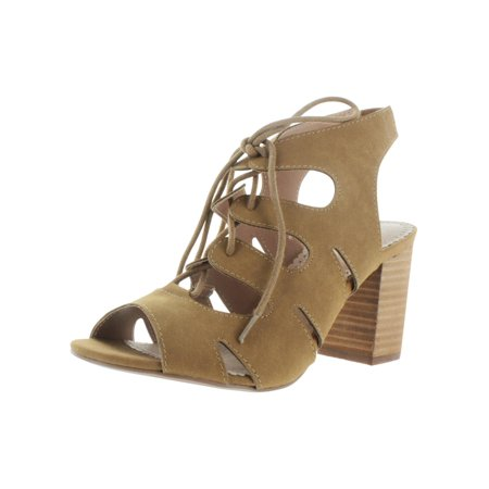 Restricted Womens Kad Faux Leather Cut Out Dress Sandals (Leather Cut Out Platform)