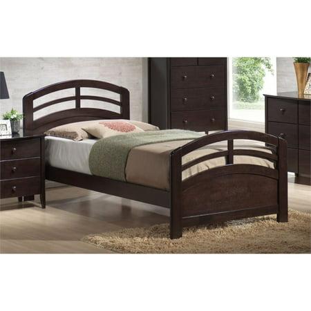 87570f2bfb55 ACME San Marino Full Panel Bed with Slat System in Dark Walnut ...