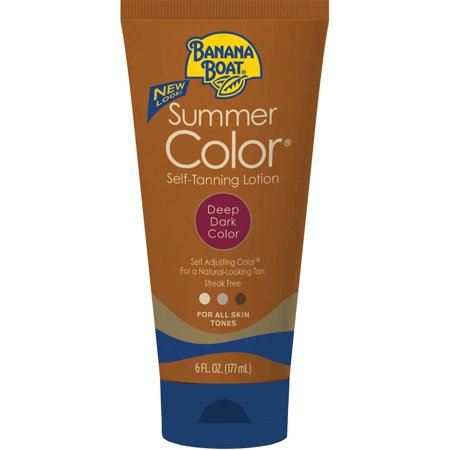 Banana Boat Summer Color Self-Tanning Lotion, Deep Dark, 6 Oz, Packaging May Vary