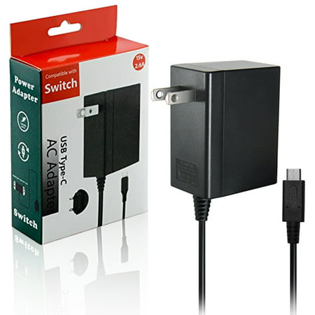 Switch AC Adapter SUPPORT TV MODE for Nintendo Switch Type-C USB PD Fast  Travel Wall Charger with 5Ft Cable, Output 5 0V 1 5A / 15V 2 6A
