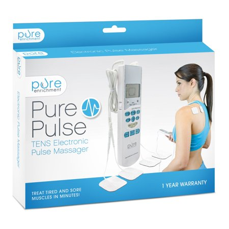 PurePulse Electronic Pulse Massager - Portable, Handheld TENS Unit Muscle Stimulator for Pain