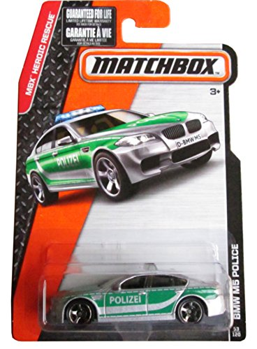 Matchbox, 2015 MBX Heroic Rescue, BMW M5 Police Car [Gray] 53 120 by Mattel
