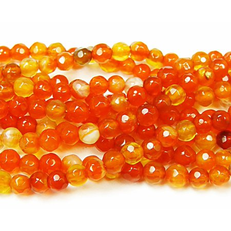 4mm 15.5 inch strand Bright red agate faceted round beads Genuine Natural Gemstone Jewelry making