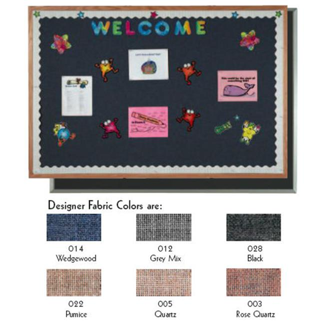 Aarco Products DF4848003 Desinger Fabric Bulletin Board - Rose Quartz