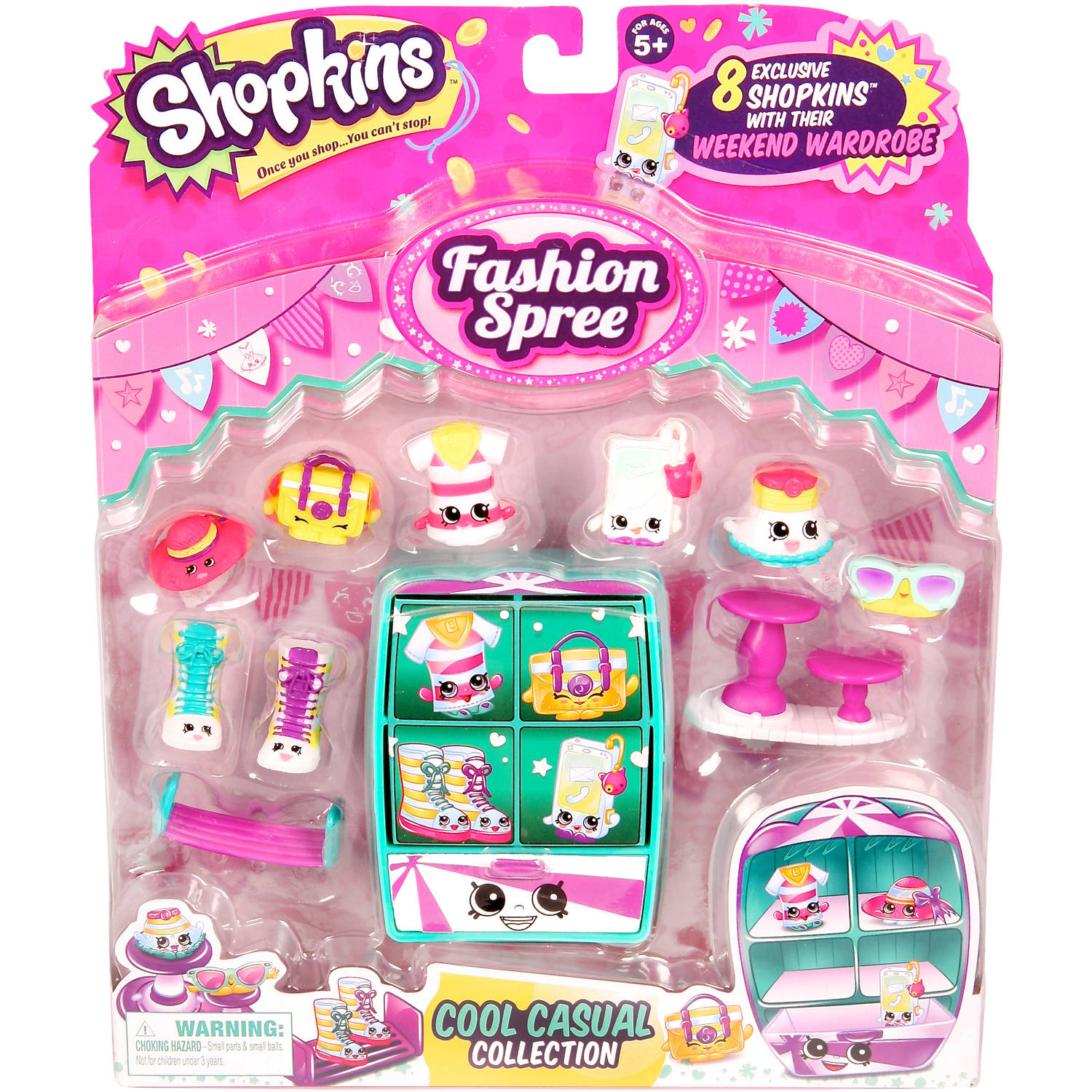 Moose Toys Shopkins Season 3 Fashion Spree Themed Pack Cool N Casual