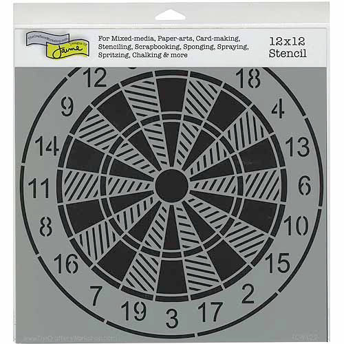 Crafters Workshop Templates 12 Inch X 12 Inch-Dartboard
