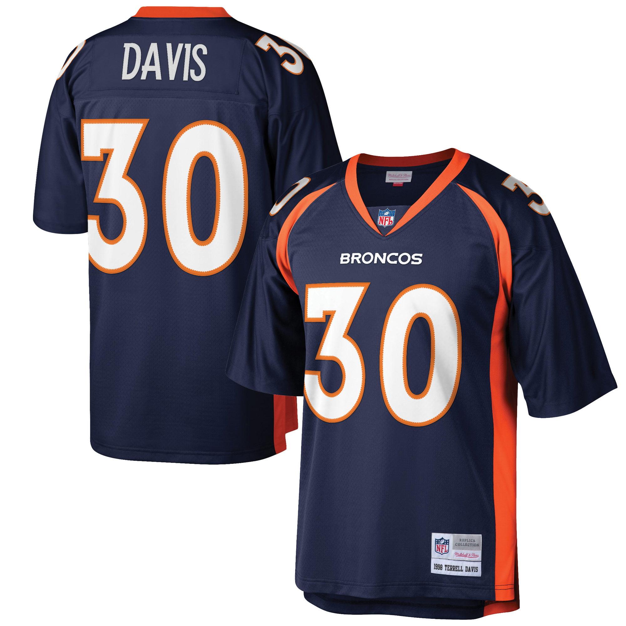 Terrell Davis Denver Broncos Mitchell & Ness Retired Player Replica Jersey - Navy