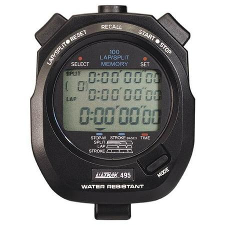 100 Lap Memory Water Resistant Stopwatch (Black) (30 Lap Stopwatch)