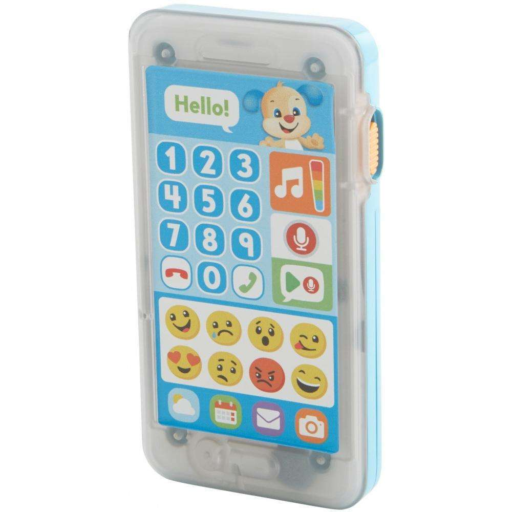 Fisher-Price Laugh & Learn Leave A Message Smart Phone, Blue