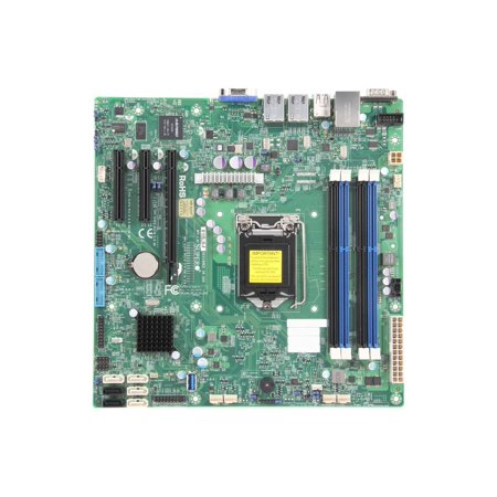 Supermicro X10SLM-F uATX Server Motherboard LGA 1150 Intel C224 DDR3 1600