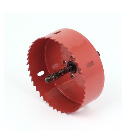 "Wood Aluminum Sheet Cutting Twist Drill Bit Bimetal Hole Saw Cutter 100mm 4"" Dia - Walmart.com"