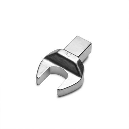 Capri Tools 21 mm Open End Interchangeable Torque Wrench Head, Metric, 14 mm x 18 mm
