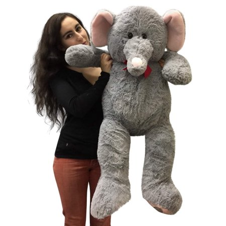 3 foot giant stuffed elephant 36 inch soft big plush stuffed animal. Black Bedroom Furniture Sets. Home Design Ideas