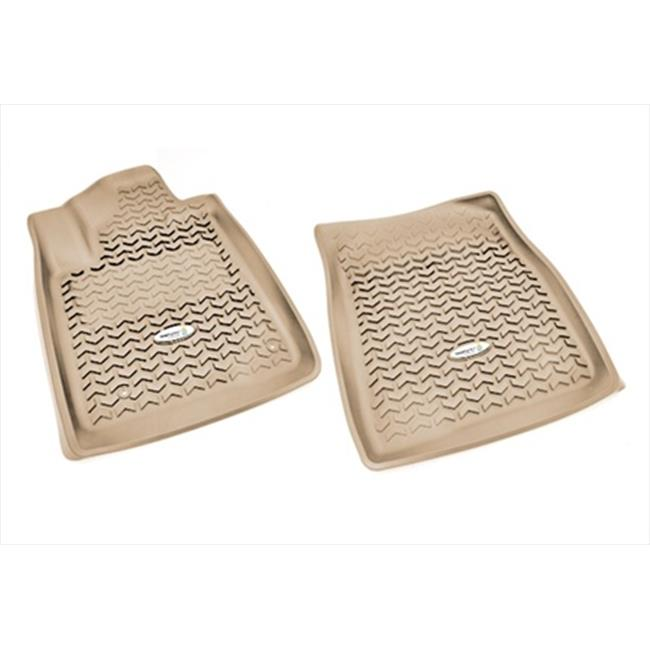 Floor Liner, Front Pair, Tan, 2007-2011 Toyota Tundra And Sequoia - image 1 de 1