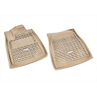 Floor Liner, Front Pair, Tan, 2007-2011 Toyota Tundra And Sequoia