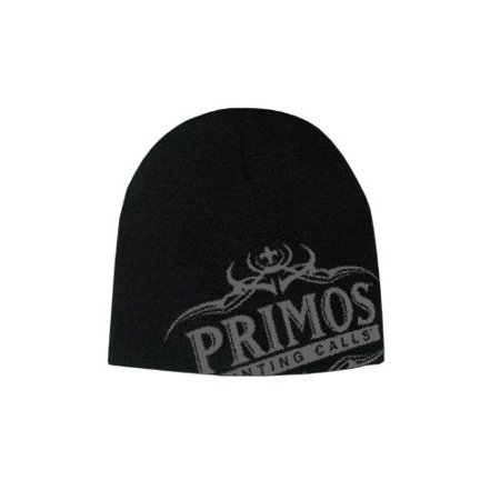 Warm Beanie, Black Winter Primos Logo With Antlers Skull Hat Mens Beanie Cap