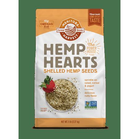 Manitoba Harvest Hemp Heart Seeds, 5.0 Lb, 75 Servings Living Harvest Hemp