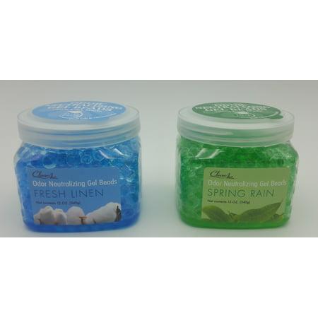 Punati ClearAir Odor Neutralizing Gel Beads Pack of 2: Spring Rain and Fresh Linen