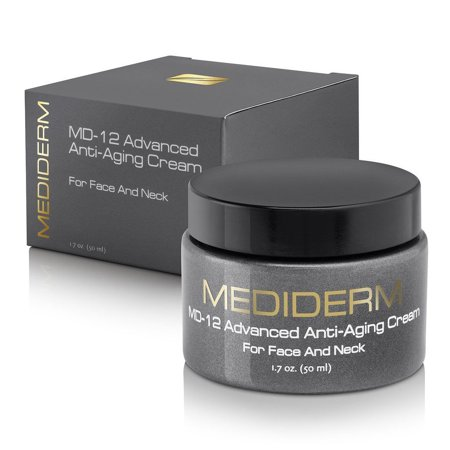 MediDerm MD-12 Advanced Anti-Aging Face & Neck Skin Repair Magic Smoothing Cream ()