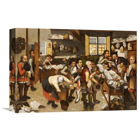 Global Gallery The Payment Of Tithes By Pieter Bruegel The Elder Painting Print On Wrapped Canvas