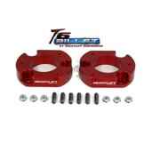 ReadyLift Suspension 04-15 Ford F150/Mark LT 2.0in T6 Billet Aluminum Leveling Kit Anodized - Red