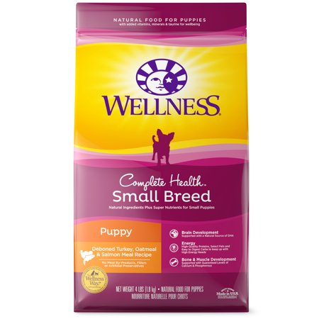 Medical Pet Food (Wellness Complete Health Turkey, Oatmeal & Salmon Recipe Small Breed Puppy Dry Dog Food, 4 Lb)