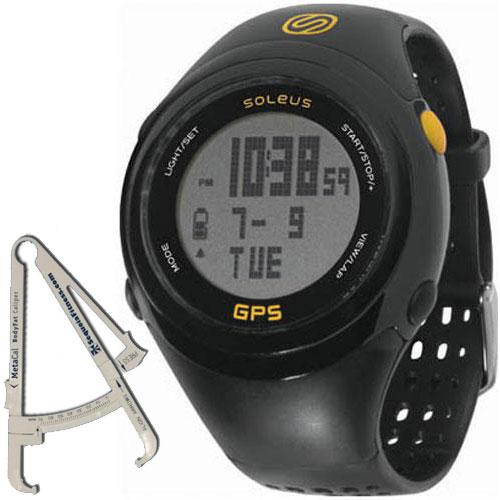 SoleusAir GPS FIT Watch with BodyFat Caliper - Black Yellow