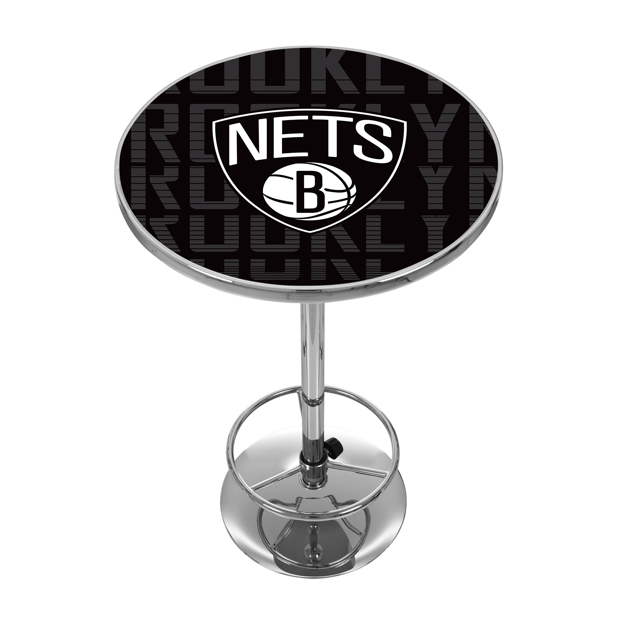 NBA Chrome Pub Table - City - Brooklyn Nets