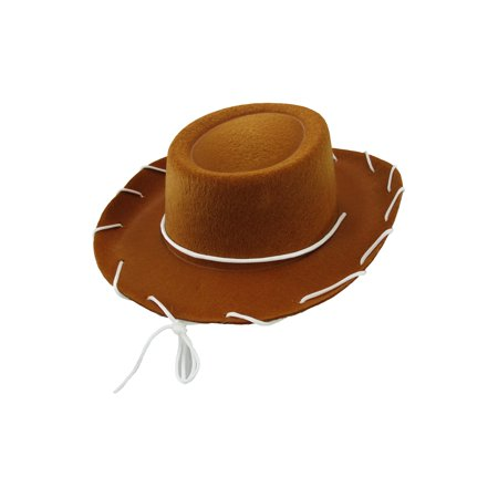 Style Rhinestone Hat (Child Western 1950's Style Kids Cowboy Ranch Hat, Brown, One Size)