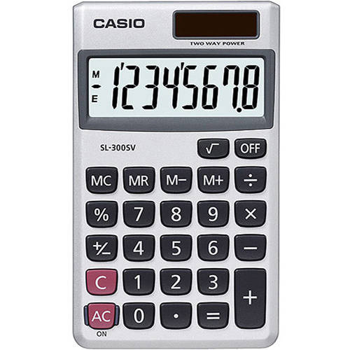 Casio SL300SV Wallet Style Calculator