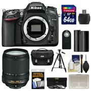 Nikon D7100 Digital SLR Camera Body with 18-140mm VR Lens + 64GB Card + Case + Battery + Tripod + 3 Filters Kit