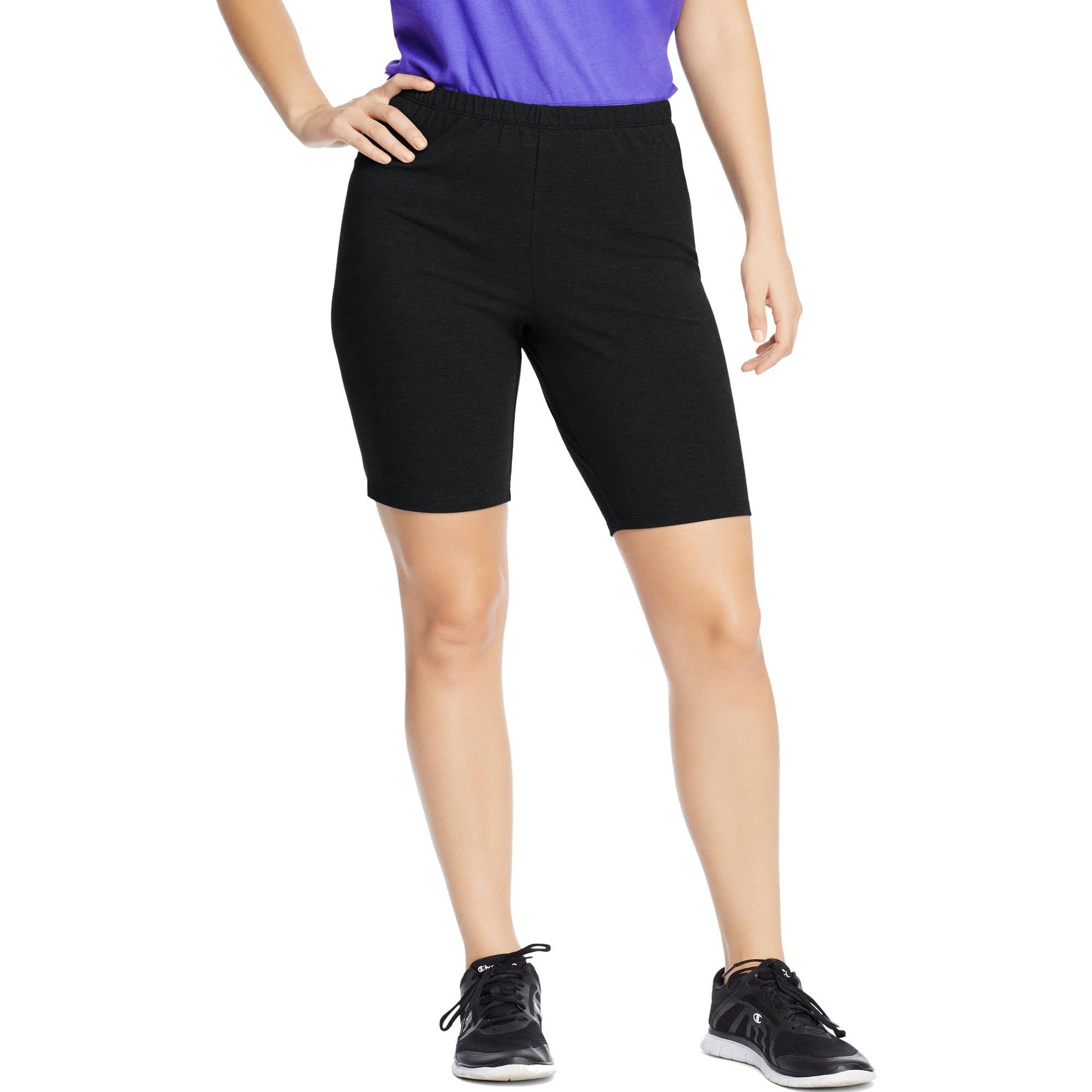 just my size women's plus-size stretch jersey bike short - walmart