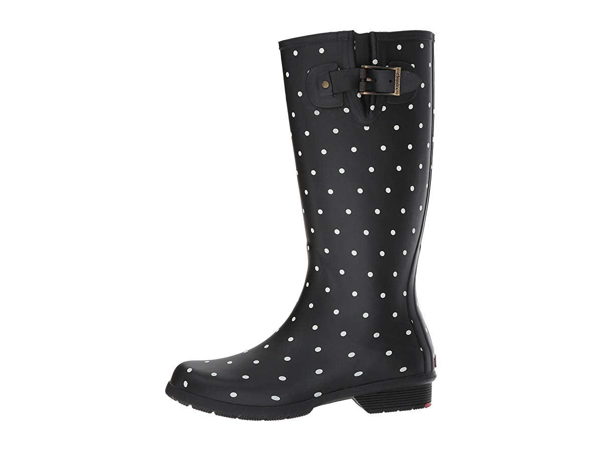 Tall Memory Foam Rain Boot, Black