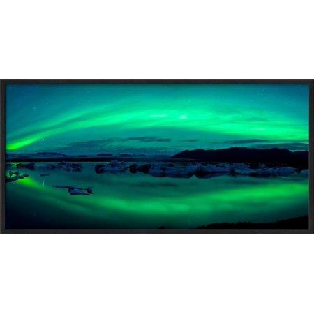 Aurora Borealis or Northern Lights over the Jokuls... Framed Photographic Print Wall Art