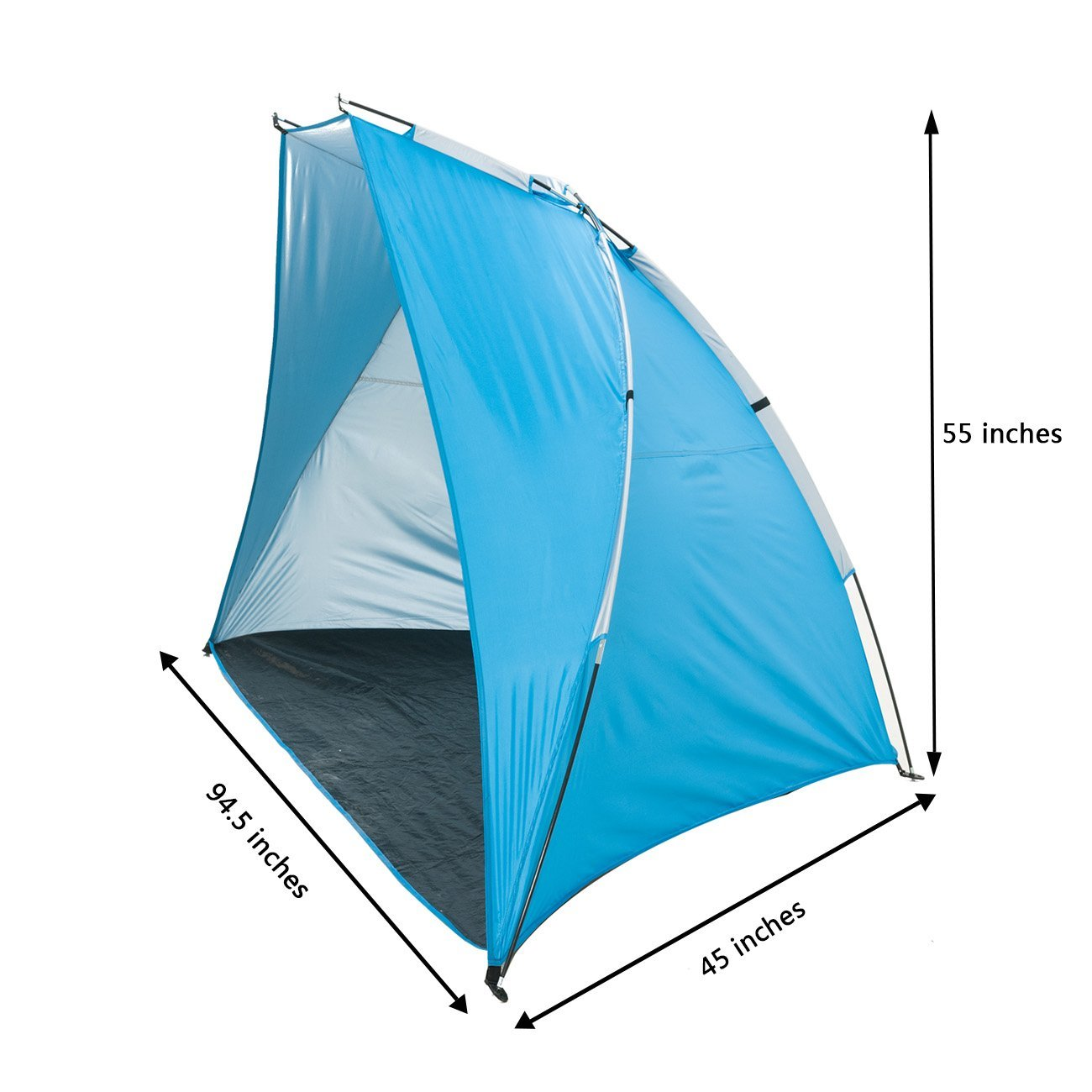 Icorer Extra Large Outdoor Portable Easyup Beach Cabana Tent Sun Shelter Sunshade 94 5 L X 47 2 W 55 H Unique Christmas Gifts