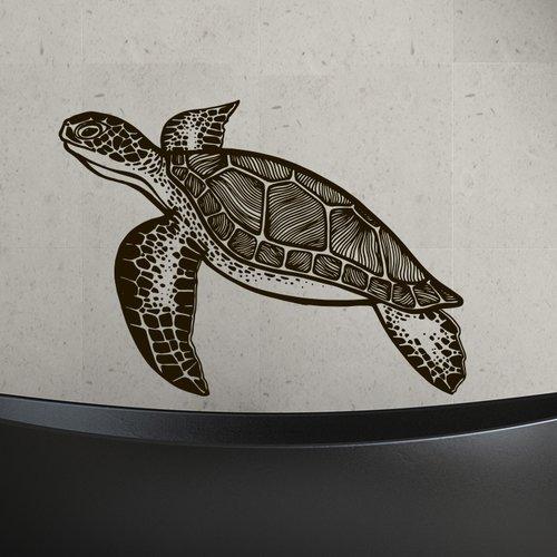Decal House Turtle Bathroom Wall Decal