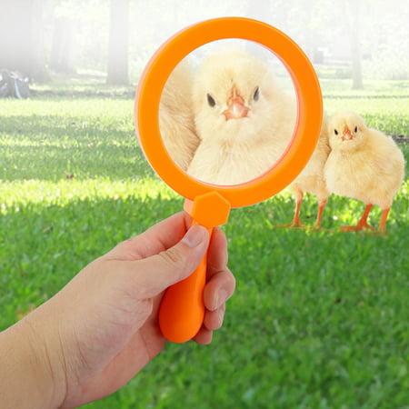Toy Magnifying Glass (Awaymmer 90mm Handheld Kids 3X Magnifying Glass Magnifier with Stand Children Educational Toys, Handheld Magnifying Glass, Kids Magnifying)