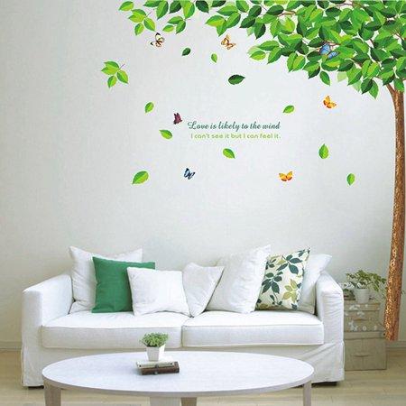 Gardeners Green Leaf Wall Stickers Romantic Living Room Sofa Bedroom B