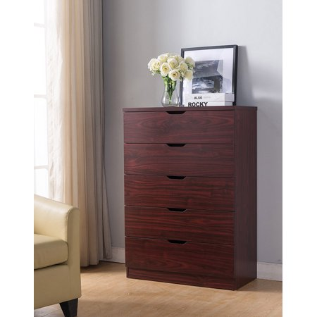 Smart home Eltra K Series 5 Drawers Chest Dresser in Mahogany ()