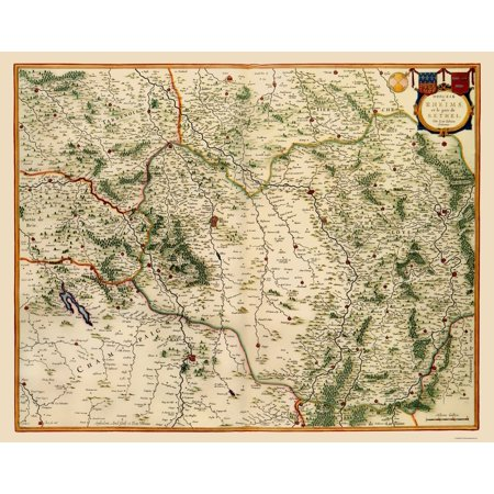 Old France Map - Reims Region - Blaeu 1635 - 23 x 29.03 - Walmart.com