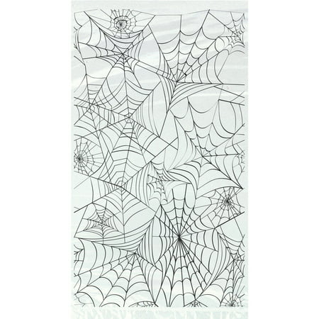 Spider Web Halloween Cellophane Bags, 20ct - Elsa Halloween Bag