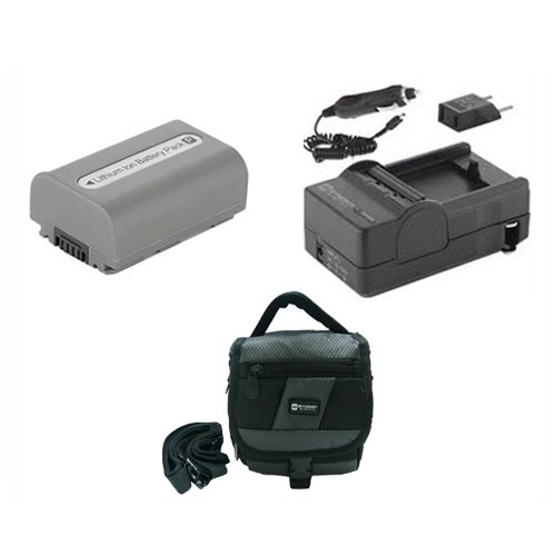 Sony DCR-HC32 Camcorder Accessory Kit includes: SDNPFP50 Battery, SDC-27 Case, SDM-109 Charger