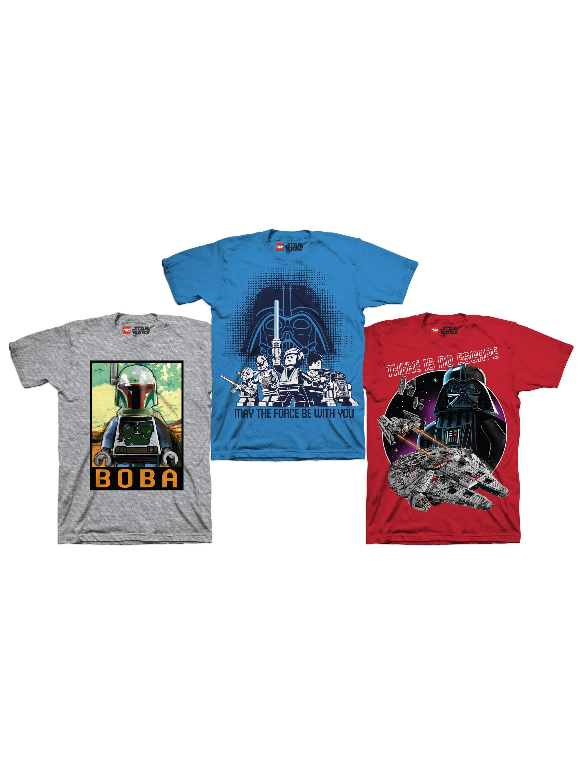 Boys' Assorted Short Sleeve Graphic Tee Three Packs