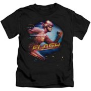DC Comics The Flash Fastest Man Speedster Little Boys Juvy Tee Shirt Black