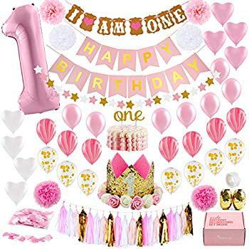 First Birthday D/écor First Birthday Party CMS Design Studio Milestone Month Banner First Party Decor Gold First Birthday Party