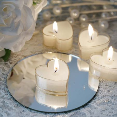 - Efavormart Set of 12 ONE TRUE LOVE Heart Tealight Candles Ideal for Aromatherapy Weddings Party Favors Home Decoration Supplies