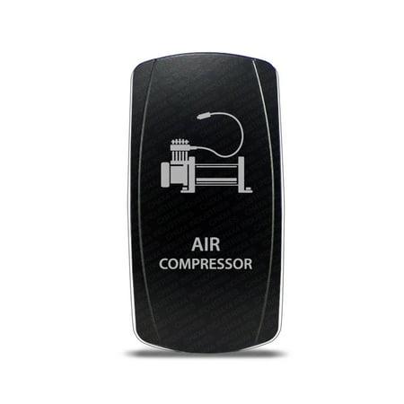 CH4x4 Rocker Switch Air Compressor Symbol - White LED