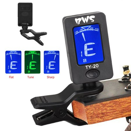 EEEkit Guitar Tuner Clip-on Tuner for Guitar,360 degree Rotational Electronic Digital Tuner Easy to Use- Suitable for Acoustic and Electric Guitar Bass Violin Ukulele Digital Auto Guitar Tuner
