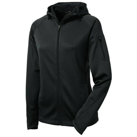 Sport-Tek Women's Drawcord Fleece Full-Zip Hooded (Womens Columbia Three Lakes Hooded Long Fleece Jacket)